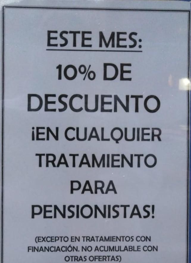 Oferta del mes en el Centro Dental Puerta del Sur: 10 % de descuento en cualquier tratamiento si eres pensionista.